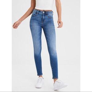 AEO 12 SHORT Hi Rise Jeggings Skinny Jeans Blue